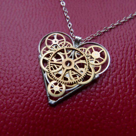 Gear Heart Necklace \