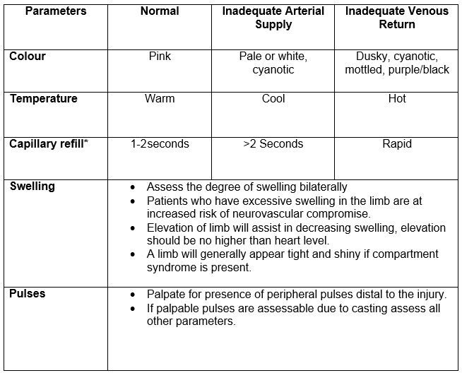 Neurovascular Check Flow Sheet - Google Search