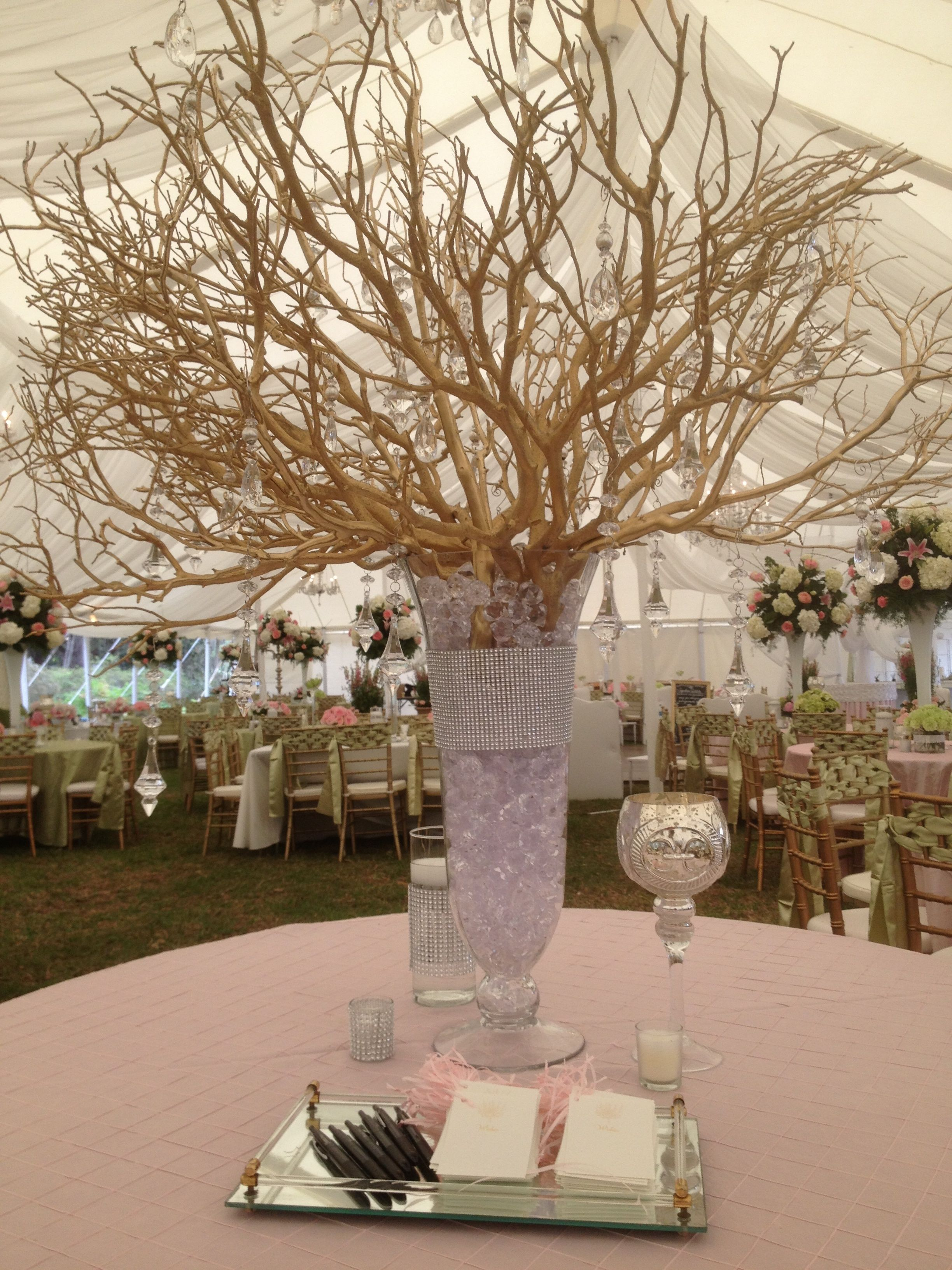 Wedding ideas decor wishing tree gold