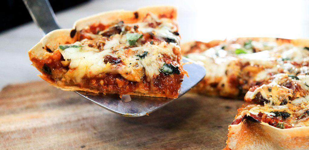 Low Calorie Deep Dish Pizza Lo Dough Food The Recipe