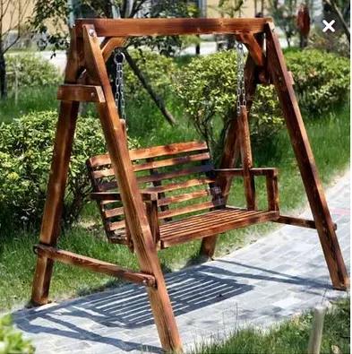 Balancoire Bois Massif Special Swing Swing Exterieur Carbonisation