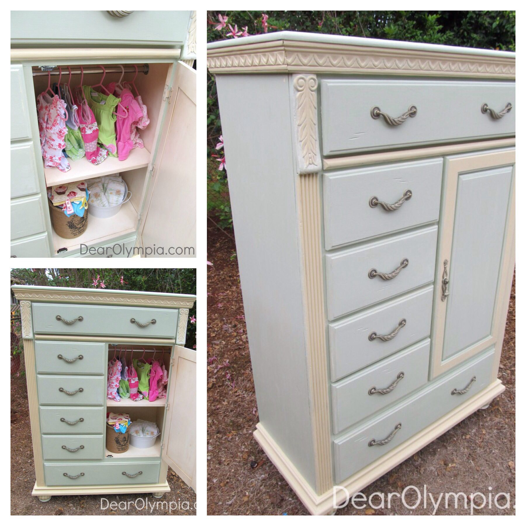 Best Mint And Cream Tall Boy Chest Of Drawers Paintedfurniture Mint Cececaldwell Kentucky Mint 400 x 300