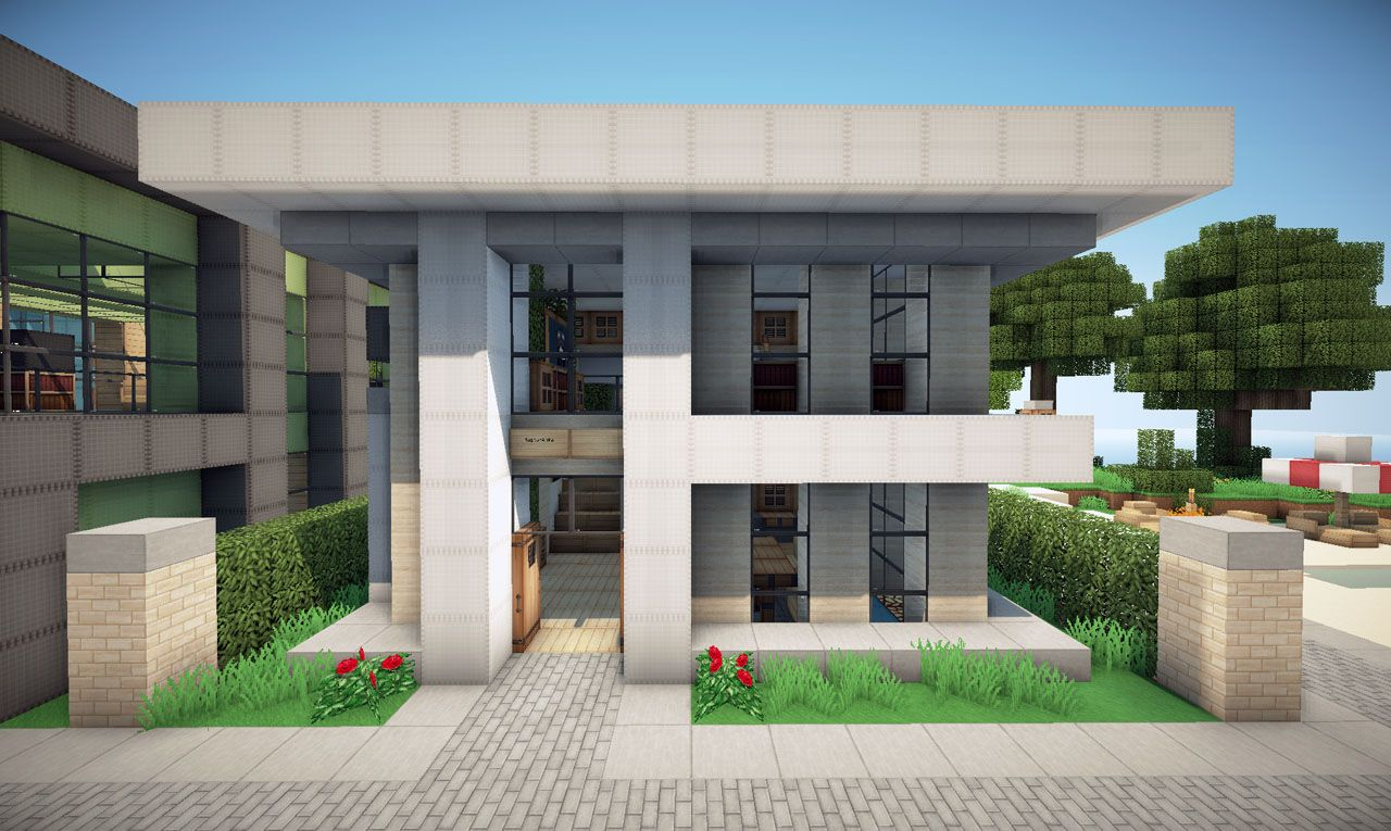 Modern house project minecraft