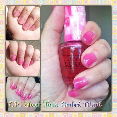 Lie Or Try Opi Sheer Tints Top Coat Polish