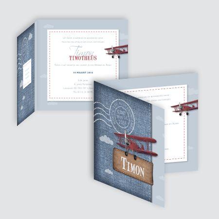 Geboortekaartje Timon, ontworpen door Ontwerp Studio Rottier
