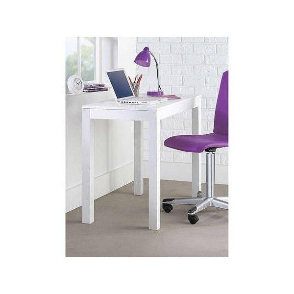 Mainstays Parsons Desk With Drawer Multiple Colors Walmart Com 59 Liked On Polyvore Featur With Images White Writing Desk Writing Desk With Drawers Desk With Drawers