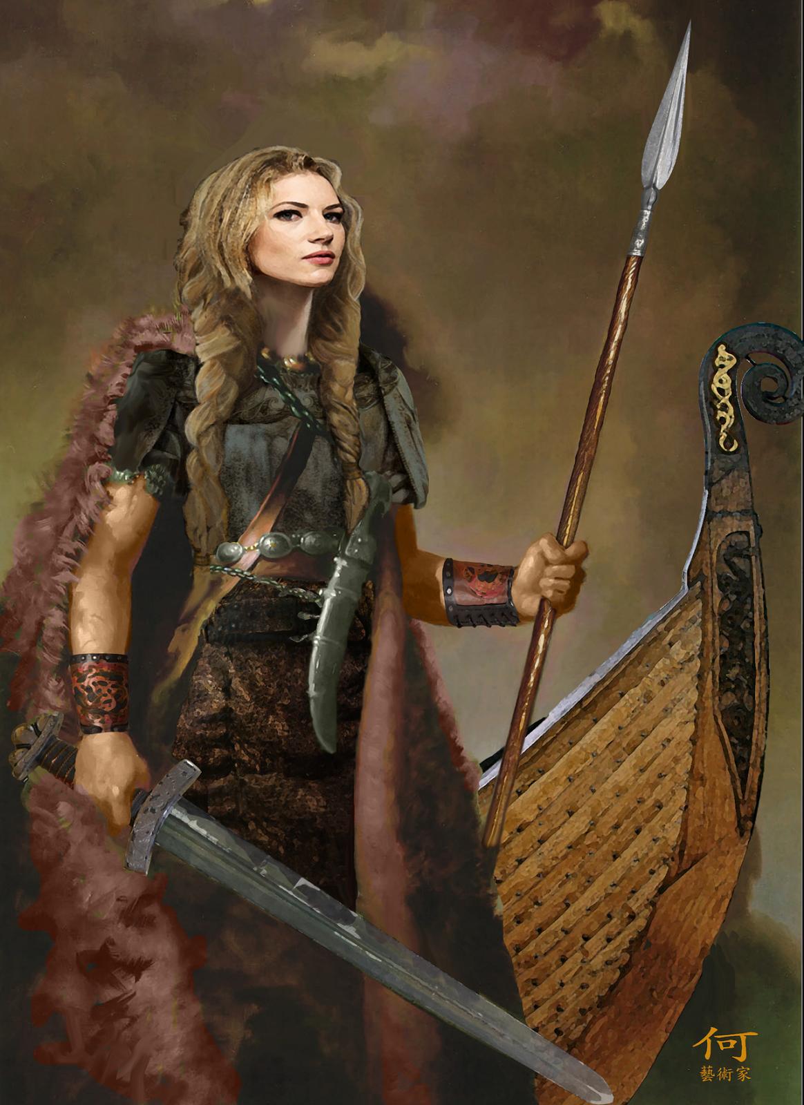 lagertha_vikings_by_bucfan98-d5yg3oc.png (1164×1600 ... Viking Woman Art