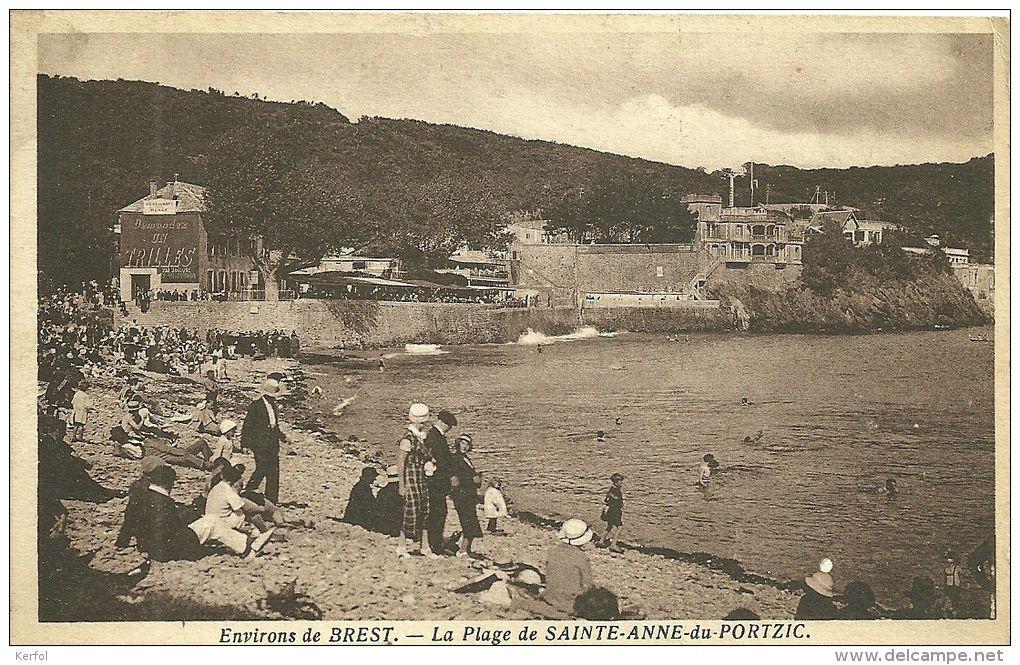 Image Environs De Brest La Plage De Sainte Anne Du Portzic Delcampe Net En 2021 Brest Brestois Bretagne