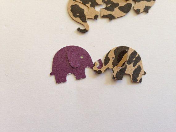 Die cut elephants. Confetti, Favor, Decoration. on Etsy, $3.00