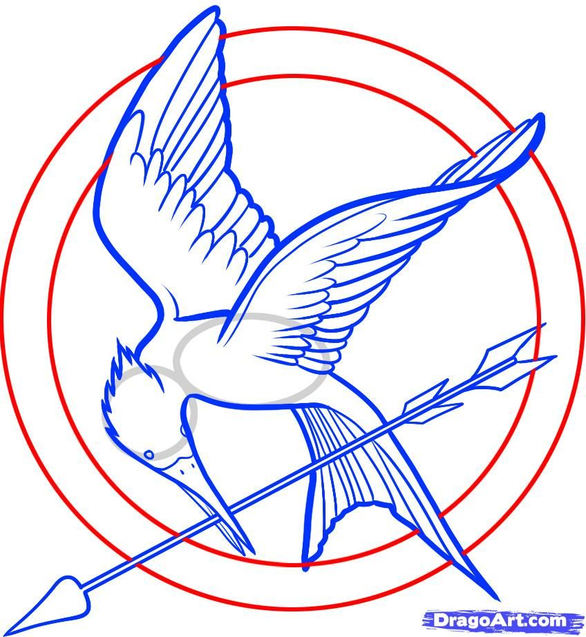 How To Draw The Mockingjay Pin The Hunger Games Pinterest