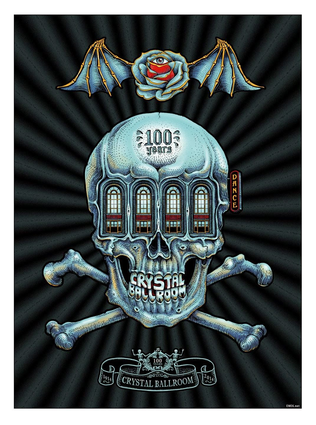 Emek Crystal Ballroom 100th Anniversary Poster Release