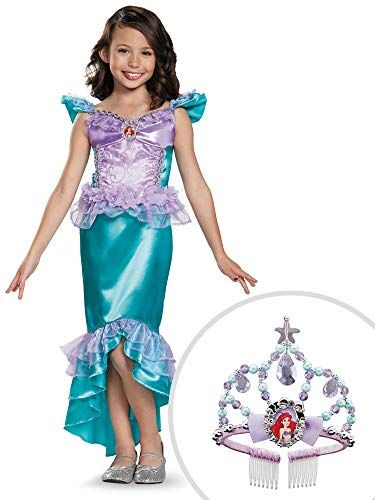 Little Mermaid Ariel Costume Kit Classic with Tiara Kids Includes  Dress  and Tiara Does Not Include  Shoes Everything you need to complete your  Halloween ... 0e281ba54c6e