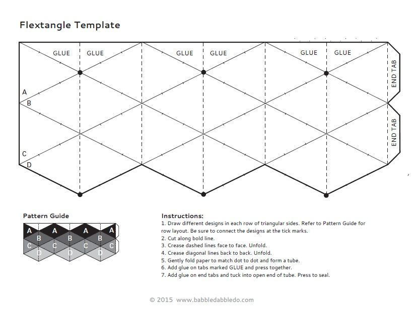 Instructions 1 Draw Different Designs In Each Row Of Triangular