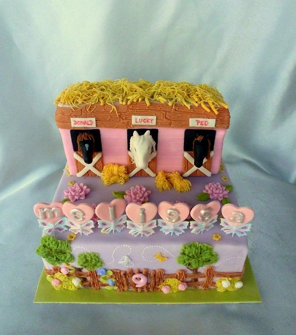 Horses Birthday Cake For A Little Girl With Her Favorite Horses
