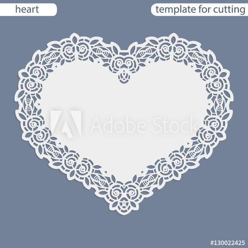 Greeting card with openwork border, paper doily under the cake - border paper template