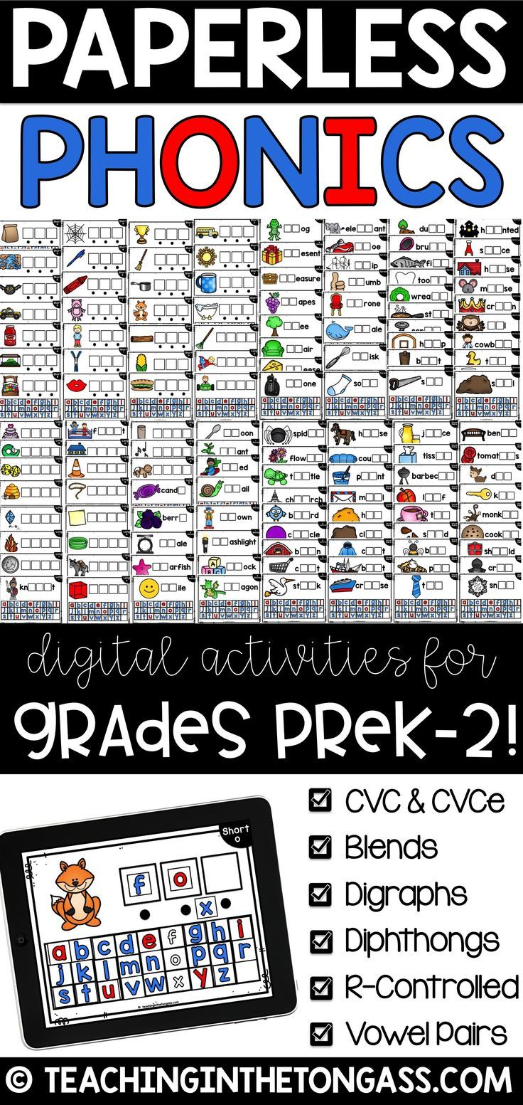 Digital Word Work Literacy Centers Powerpoint Google