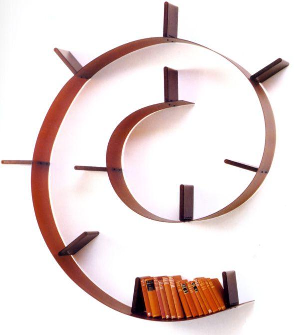 Libreria A Muro Kartell.Bookworm Furniture Mensola A Muro E Salotto