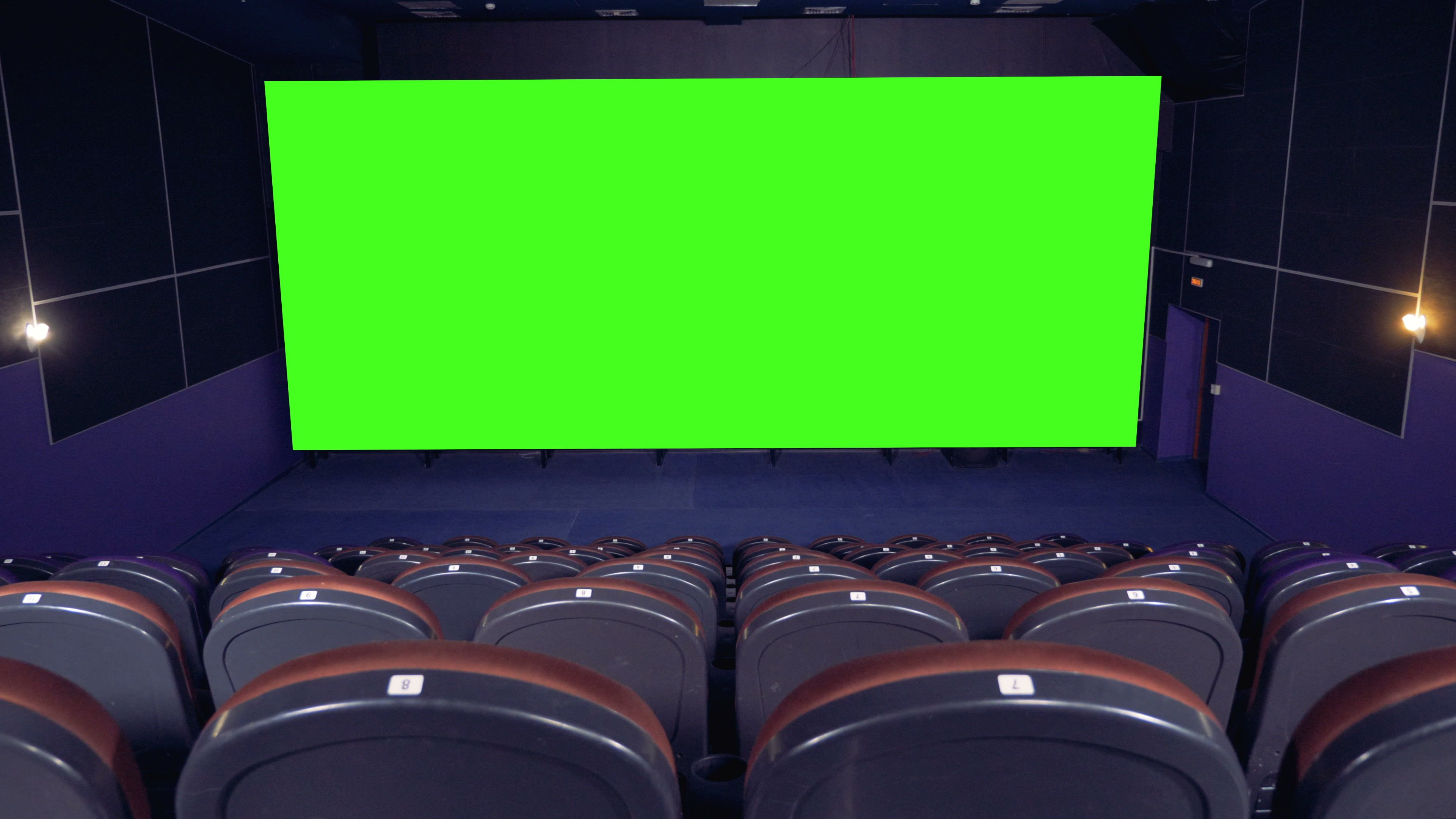 Cinema Movie Theatre With A Green Screen 4k Stock Footage Ad Theatre Movie Cinema Green In 2020 Cinema Movie Theater Cinema Movies Greenscreen