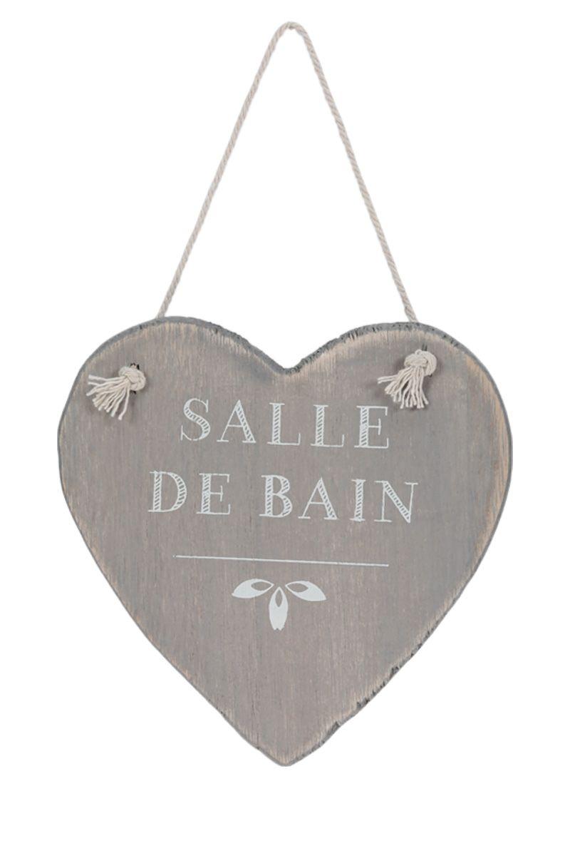 Plaque de porte coeur en bois, 13 x 13 cm brick divers Pinterest Déco, Décoration et Zen # Plaque De Porte Bois