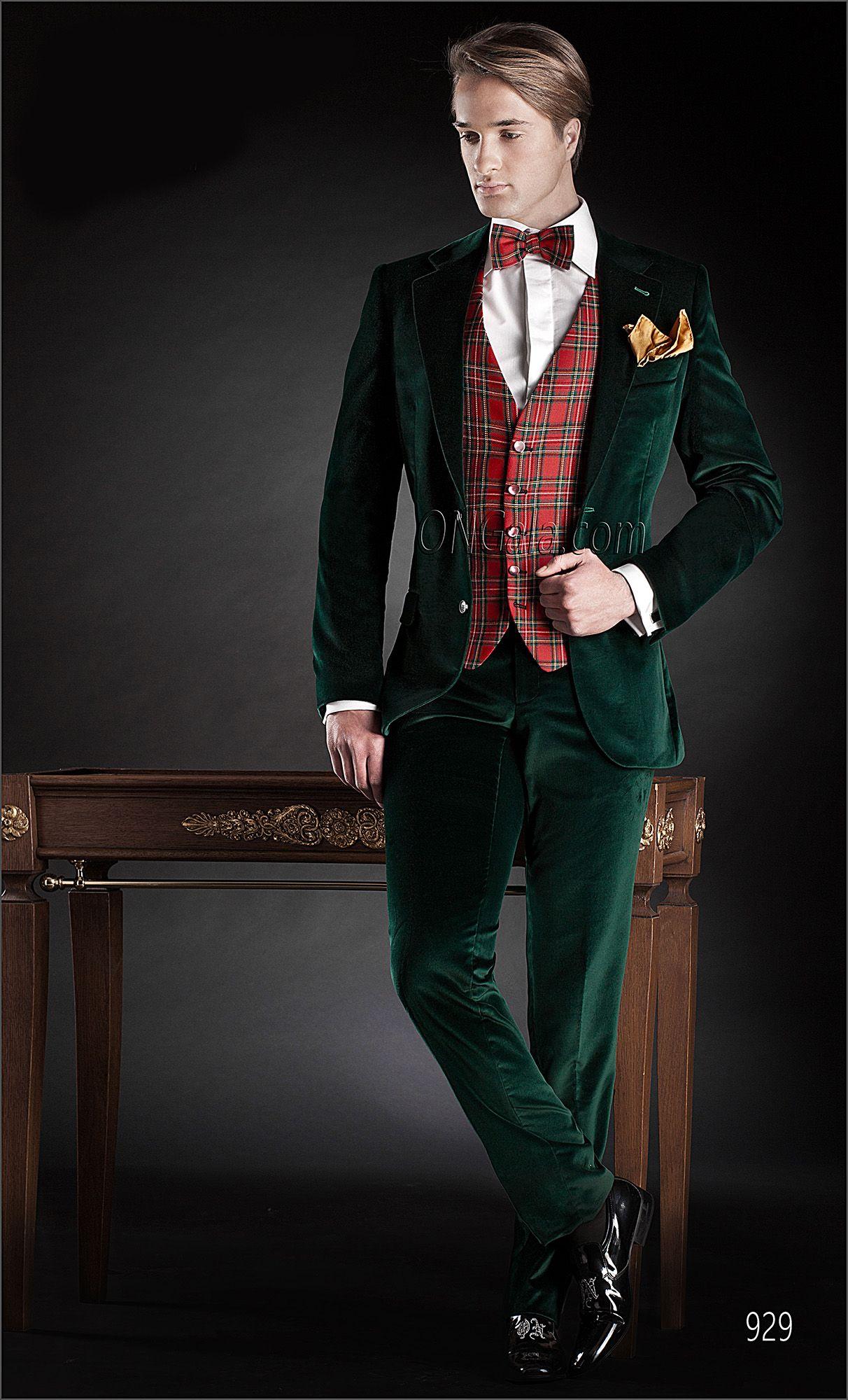 Abito da Cerimonia Uomo in velluto verde  b271555e234
