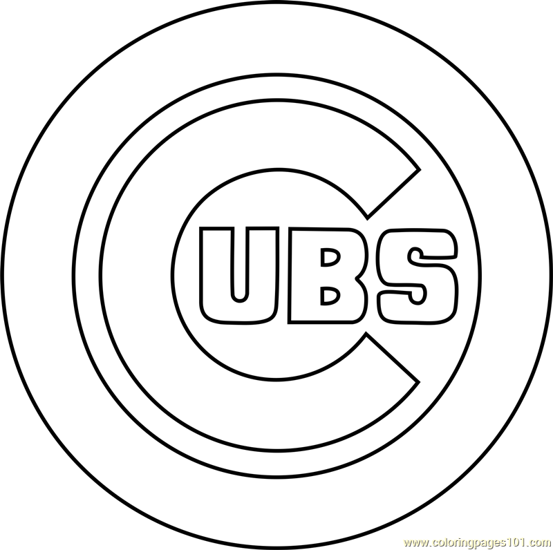 Chicago Cubs Logo Printable Coloring Page For Kids And Adults In 2020 Coloring Pages For Kids Printable Coloring Pages Coloring Pages
