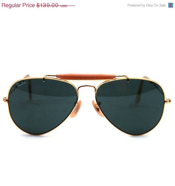 006c11c6903 Vintage Ray Ban Bausch and Lomb Aviator Outdoorsman Sunglasses 58 mm ...