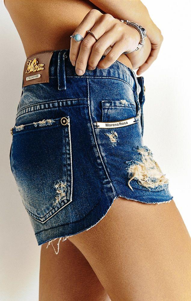 9623eb6e7 SHORTS JEANS CURTO BARRA ARREDONDADA Encontre diversos modelos de Shorts  Femininos na loja online da Morena