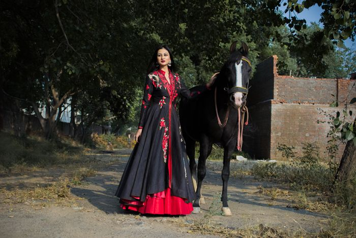 Indian look, wedding wear, look book, whatiwore  Dark floral For more visit: Www.mscocoqueen.com