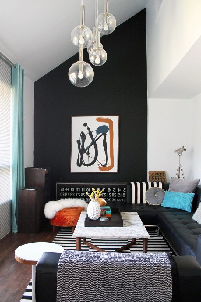 Related Image Dark Accent Wall Living Room Accent Walls In Living Room Black Walls Living Room