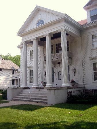 Greek Revival Mansion   Mason city iowa, Mason city, Mansions
