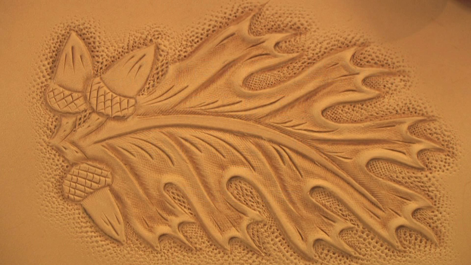Oak leaf leather carving pattern pixshark