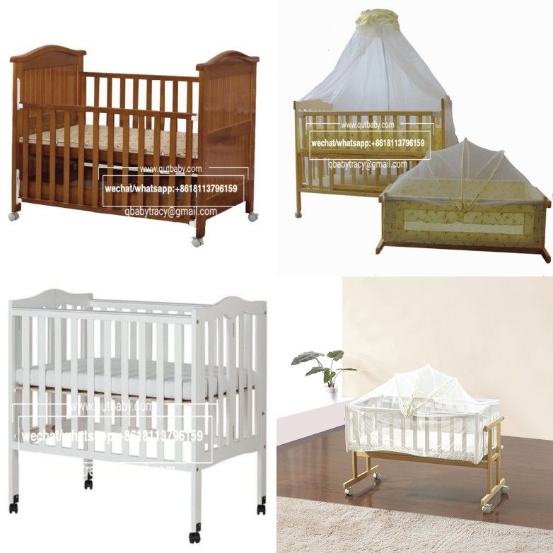 Baby Beds Cots Cribs From China Factory Wooden Solid Pine Wood