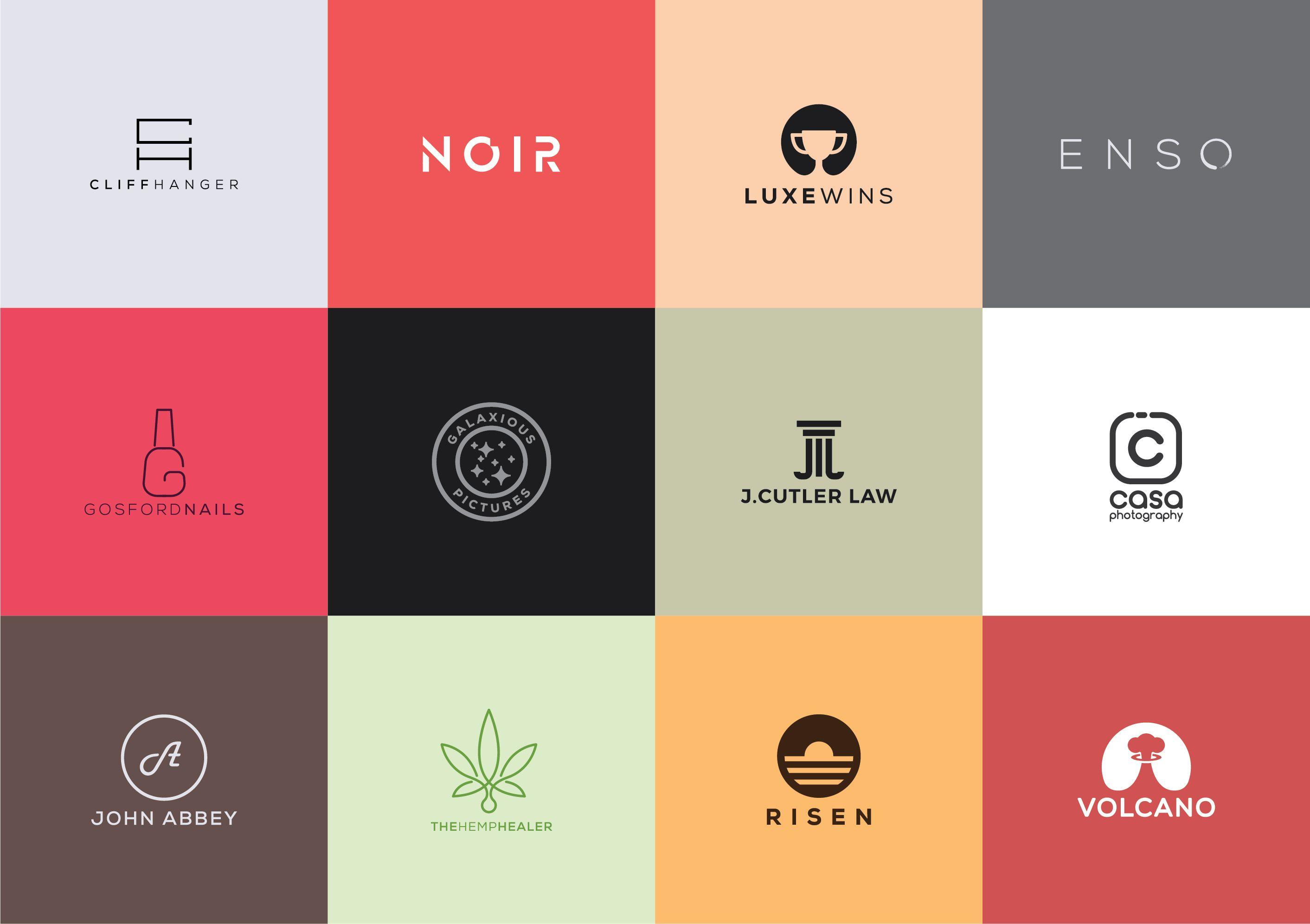 Design Professional Modern And Minimal Logo Cores Produtividade