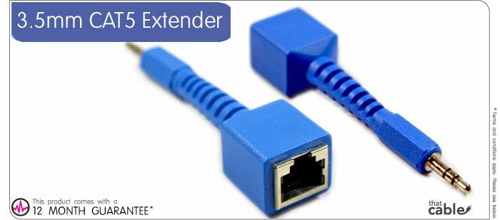 3 5mm audio plug - rj11 cat5 cable extender device 50m
