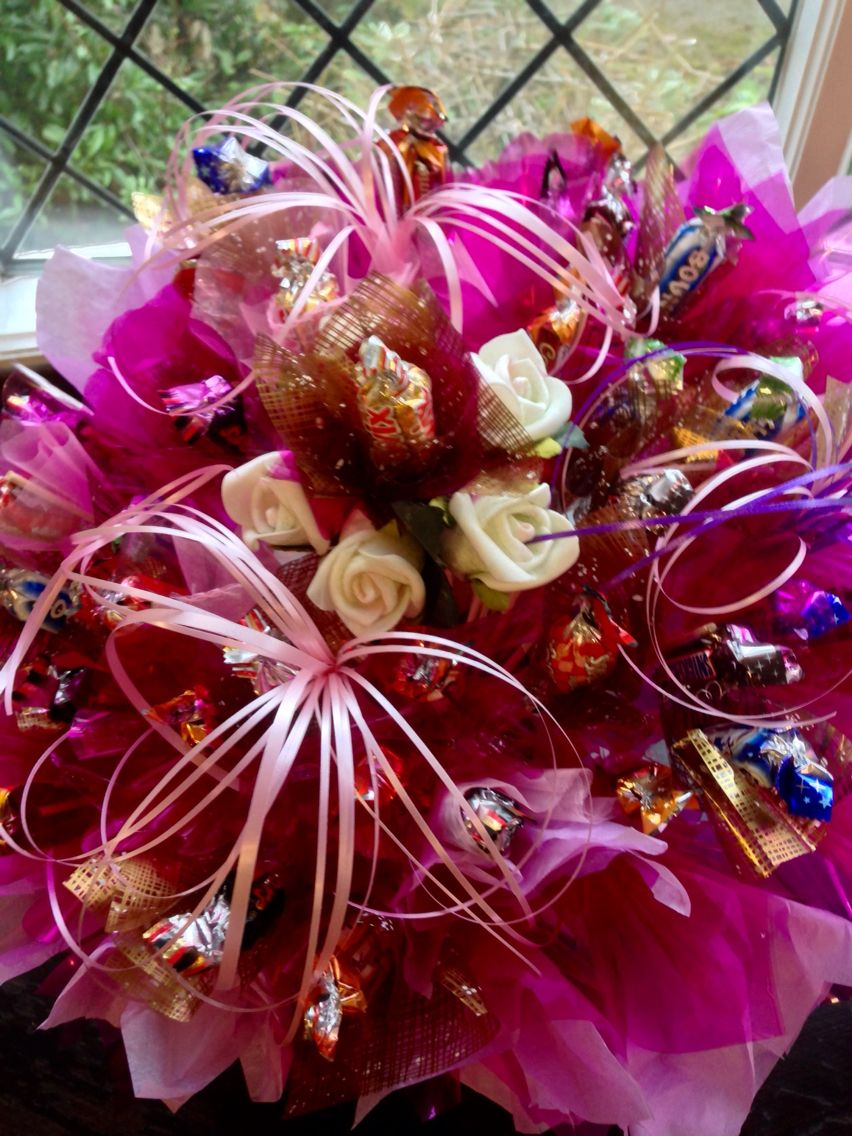 Chocolate bouquet on pinterest candy flowers bouquet of chocolate - Find This Pin And More On Chocolate Candy Bouquets Training Courses