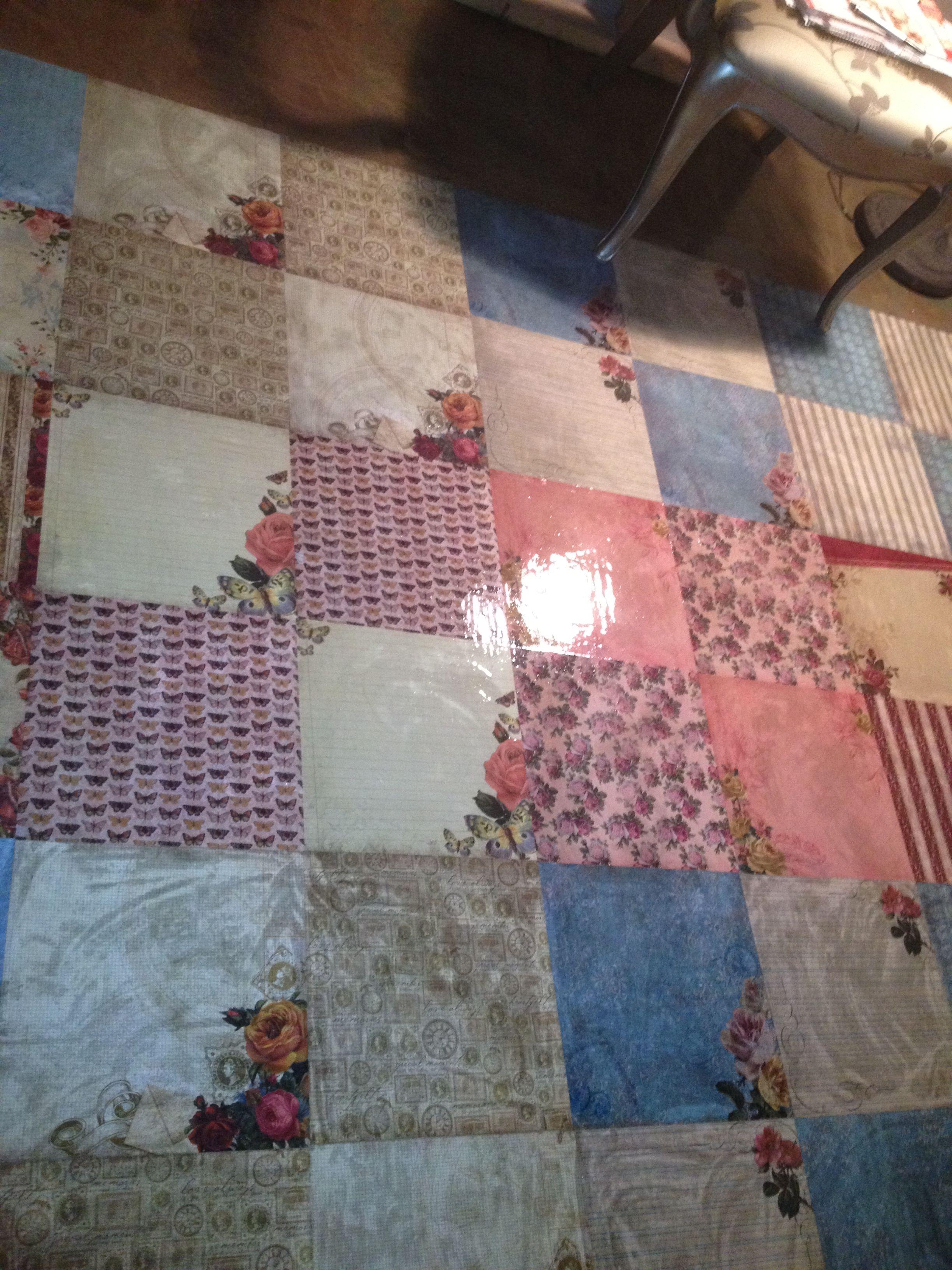 Paper bag floor youtube - Decopatch Floor Decoupage Floor Mod Podge Paper Bag Floor Scrapbook