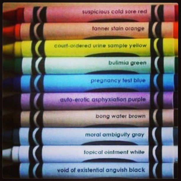 The Darker Side Of Crayon Color Names Funny Humor Funny Quick