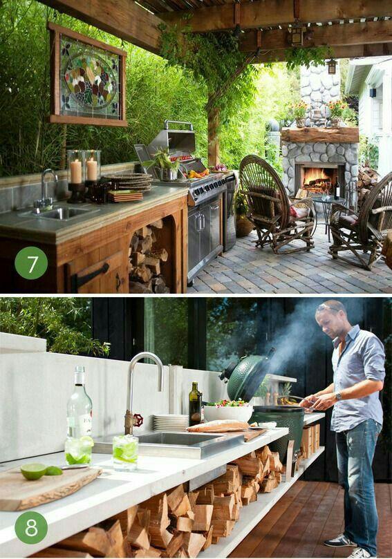 Cocina en terraza home❤ Pinterest Terrazas, Cocinas y Quinchos