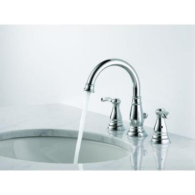 Delta Porter 8 in Widespread 2-Handle High-Arc Bathroom Faucet in
