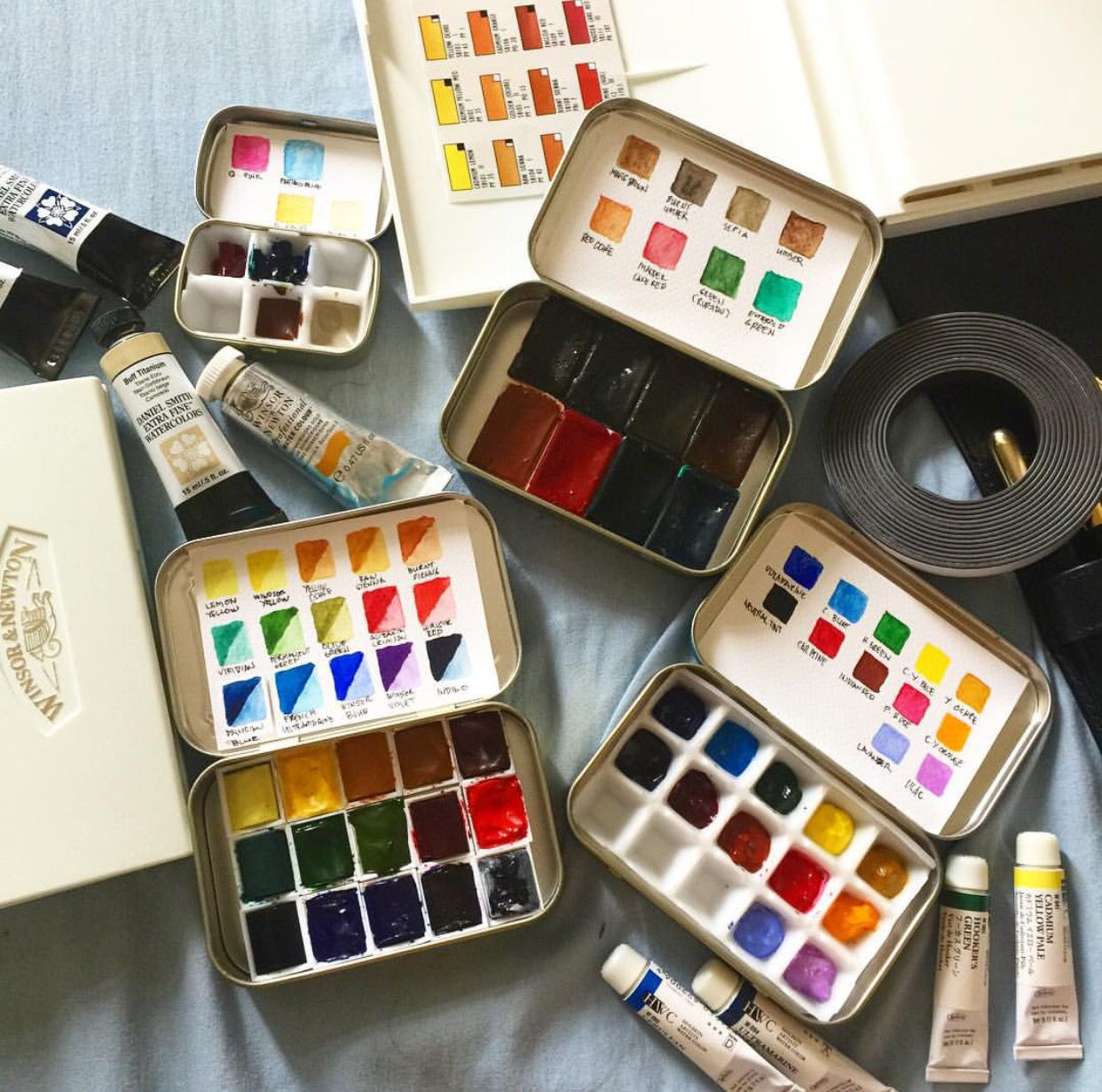 Watercolour Paints Art Art Hoe Aesthetic Watercolor Palette