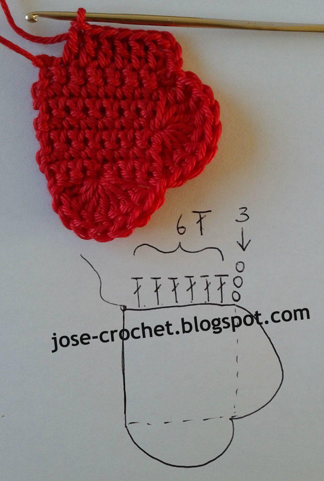 Free crochet pattern heart ♥ Haken, Hart, Gehaakt speelgoed