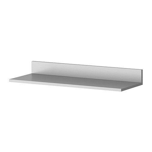 Ikea Stainless Steel Wall Shelf 24x8 Kitchen