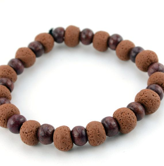 Brown Clay Surfer Bracelet by DysfunctionDesigns on Etsy, £8.00