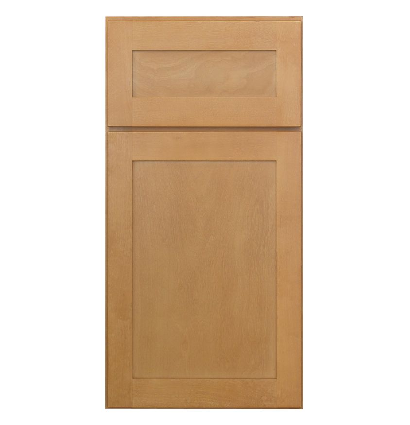 Photos Natural Maple Shaker Style Cabinet Doors With 5 Piece Drawer