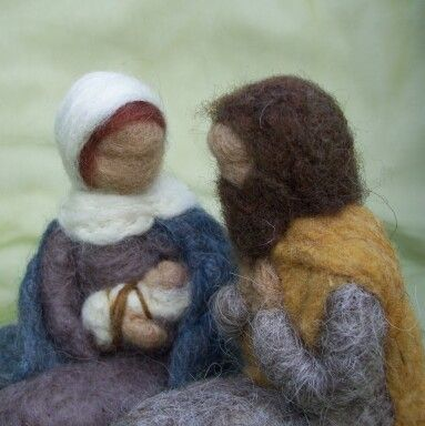 Another favorite by Haddy 2 dogs on etsy. The nativity. She makes beautiful dolls and tapestry from needle felted wool.