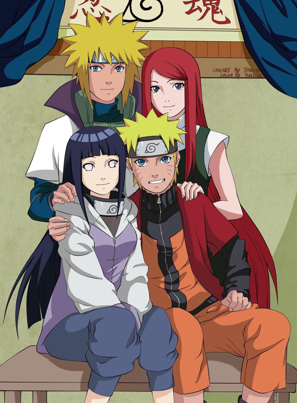 Minato e Kushina Naruto e Hinata Naruto uzumaki