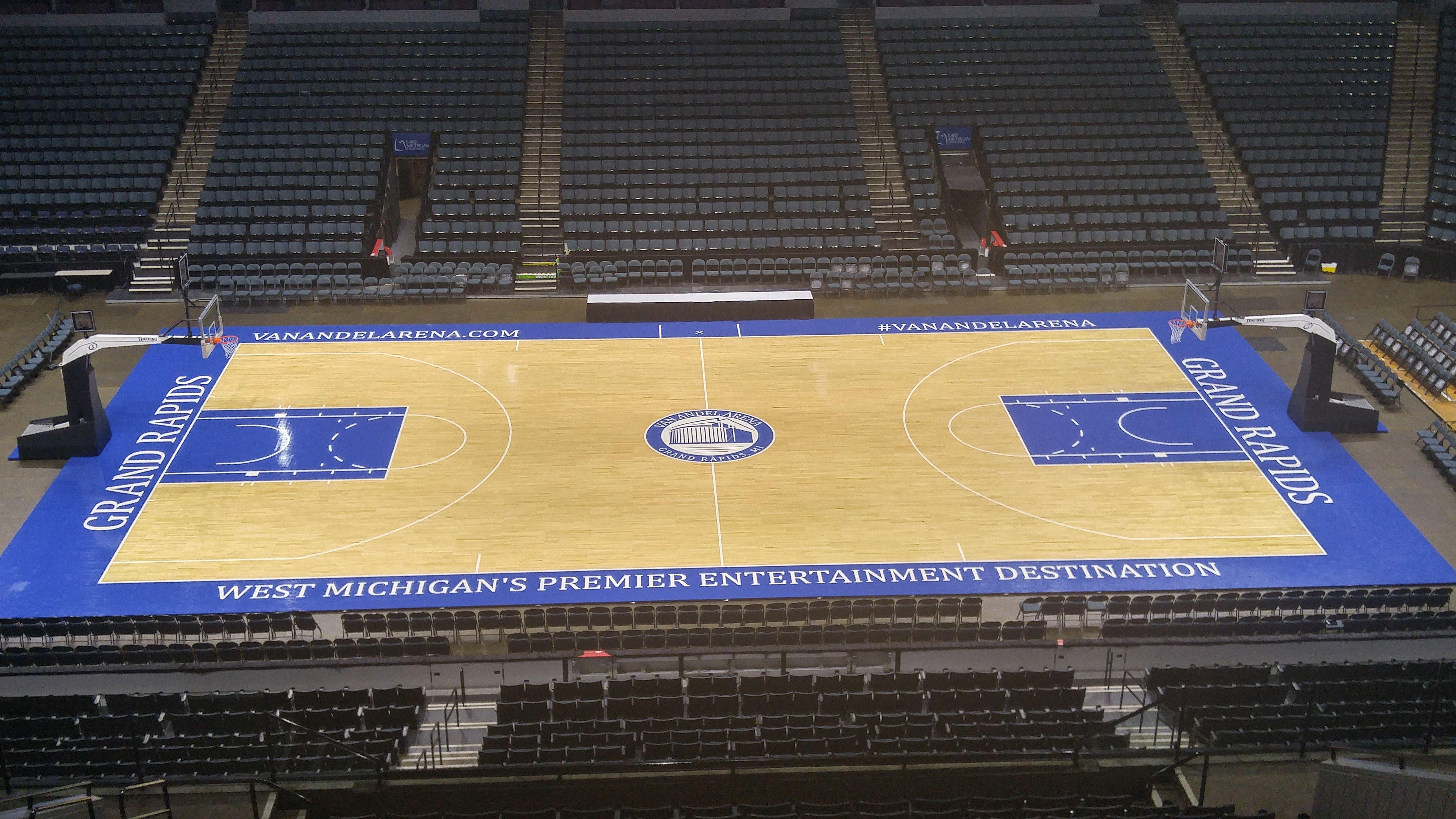 New Basketball Court At Van Andel Arena Grand Rapids Griffins Grand Rapids Arena