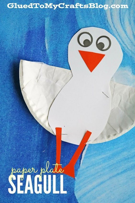 Paper Plate Seagull - Kid Craft & Paper Plate Seagull - Kid Craft | Paper plate crafts Crafts and ...