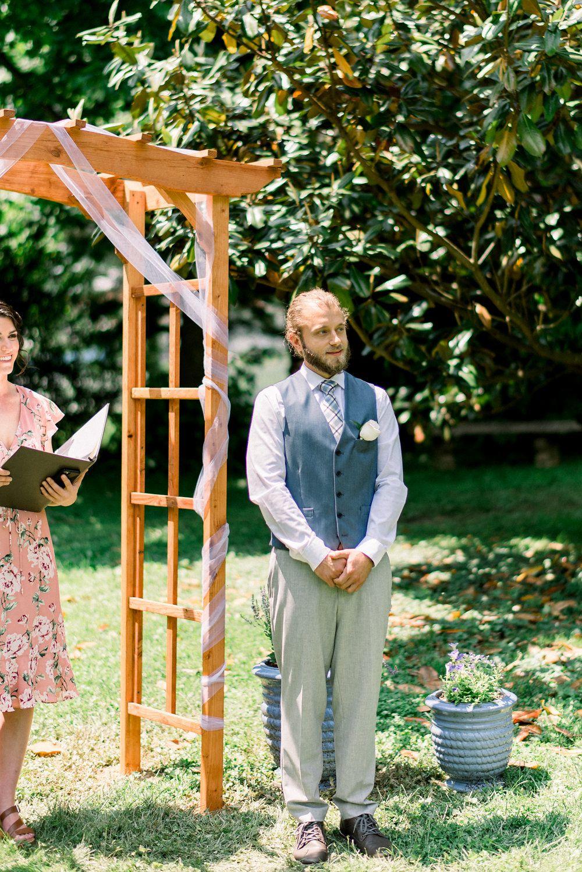 An Intimate Backyard Wedding - The Overwhelmed Bride Wedding Blog - An Intimate Backyard Wedding In 2018 Groom + Groomsmen Attire