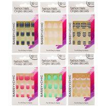 Sassy Chic Glue On Artificial Fashion Nails 12 Pc Sets Fashion Nails Tree Nails Glue On Nails